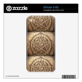 Pentagram of protections iPhone 4 skin