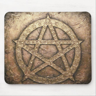Pentagram of protections mouse pad