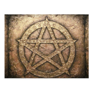 Pentagram of protections postcard