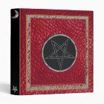 pentagram orange leather binder