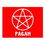 Pentagram pagano tarjetas postales