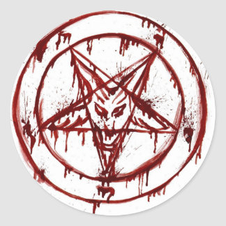 pentagram etiqueta redonda