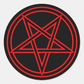 Pentagram Pegatinas Redondas