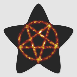 pentagram pegatina en forma de estrella
