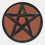 Pentagram Pegatina Redonda