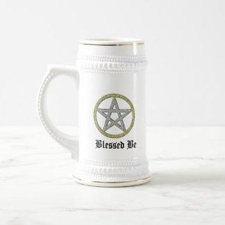 Pentagram Pentacle Beer Stein Witchy Mug