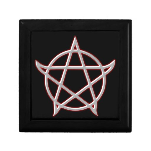 Pentagram pentacle jewelry boxes