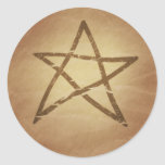 Pentagram Pentacle Protection Celtic Classic Round Sticker