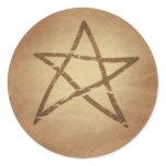 Pentagram Pentacle Protection Celtic Classic Round Sticker