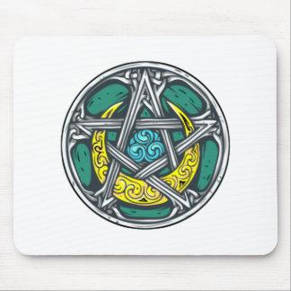 Pentagram Pentagramm media luna pentacle crescent Mousepads
