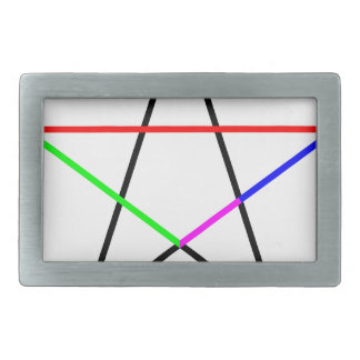 Pentagram-phi Rectangular Belt Buckle
