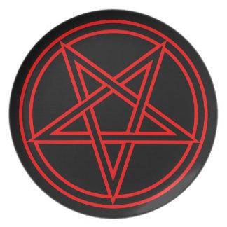 Pentagram Dinner Plates