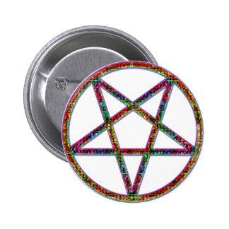 pentagram psychedlic pinback buttons