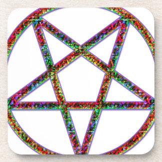 pentagram psychedlic posavasos