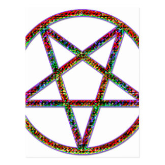 pentagram psychedlic postcard