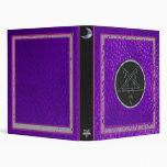 pentagram purple leather vinyl binder
