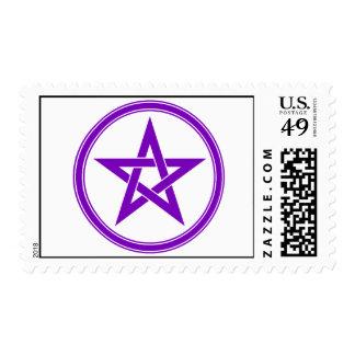 Pentagram púrpura del pentáculo sellos