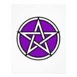 Pentagram púrpura mágico membrete