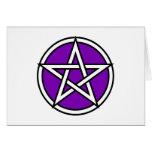Pentagram púrpura mágico tarjetas