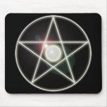 Pentagram que brilla intensamente 2 Mousepad Tapete De Ratón