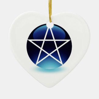 Pentagram- Religious symbol of satanism Christmas Ornament