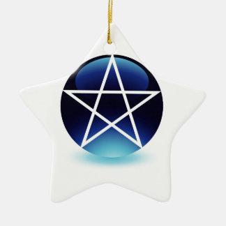 Pentagram- Religious symbol of satanism Ornaments