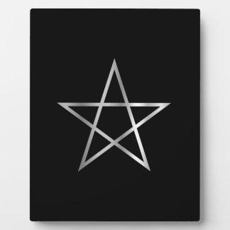 Pentagram- Religious symbol of satanism Display Plaques