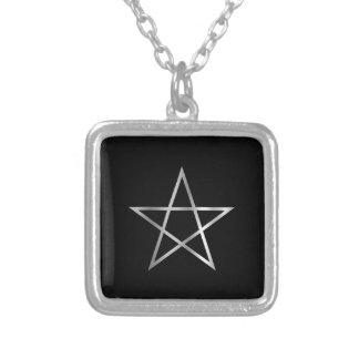 Pentagram- Religious symbol of satanism Square Pendant Necklace