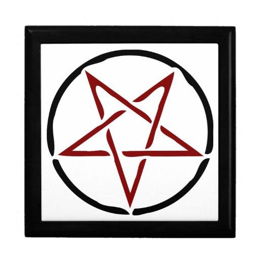 Pentagram rojo cajas de joyas