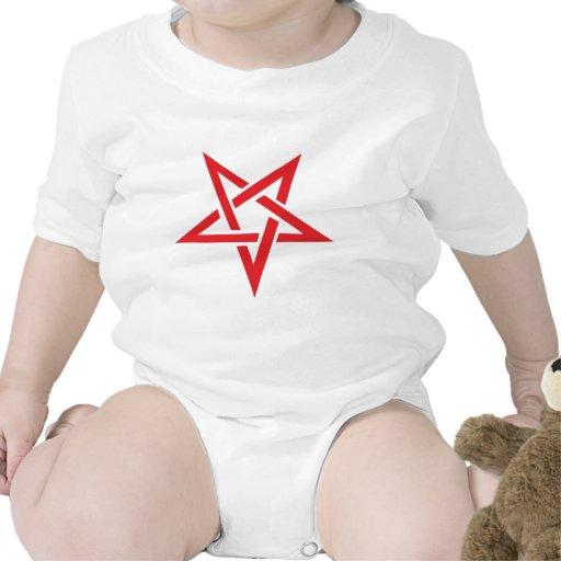 pentagram rojo camiseta
