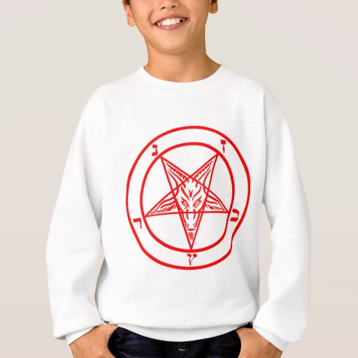 Pentagram rojo de Baphomet Sudadera