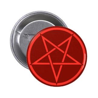 Pentagram rojo del pentáculo del estilo de neón pins