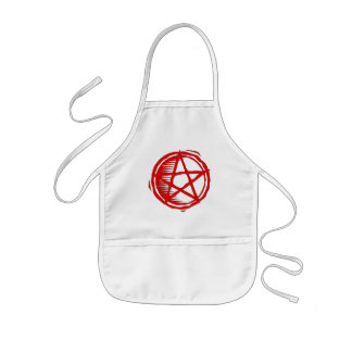 Pentagram rojo delantal infantil