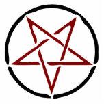 Pentagram rojo escultura fotografica