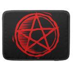 Pentagram rojo funda para macbook pro