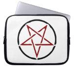 Pentagram rojo fundas portátiles