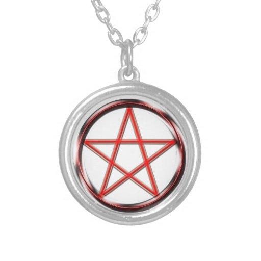 Pentagram rojo grimpola personalizada