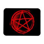 Pentagram rojo imanes flexibles