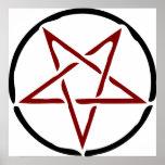 Pentagram rojo impresiones