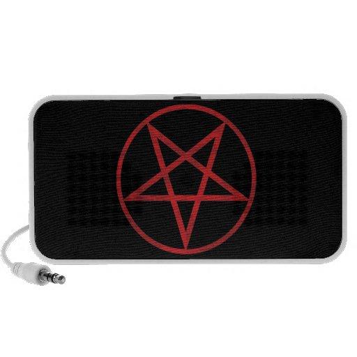 Pentagram rojo laptop altavoz
