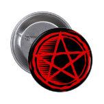 Pentagram rojo pin