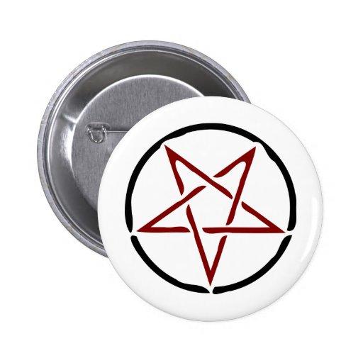 Pentagram rojo pins