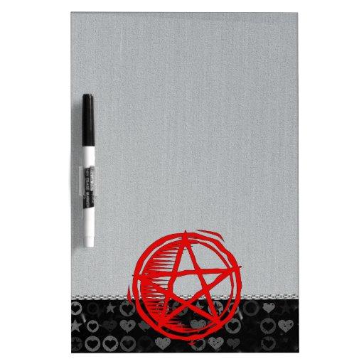 Pentagram rojo pizarra