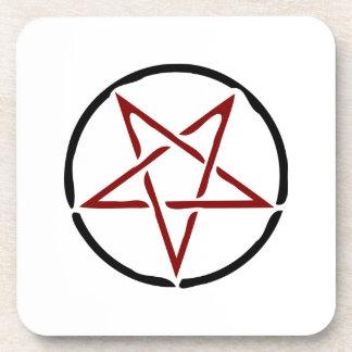Pentagram rojo posavaso