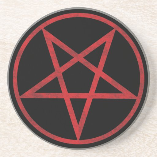Pentagram rojo posavasos manualidades