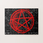 Pentagram rojo puzzle con fotos