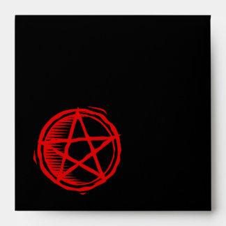 Pentagram rojo sobre