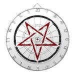 Pentagram rojo tablero dardos