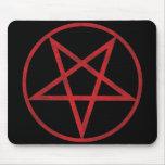 Pentagram rojo tapetes de ratón