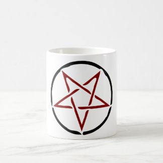 Pentagram rojo taza